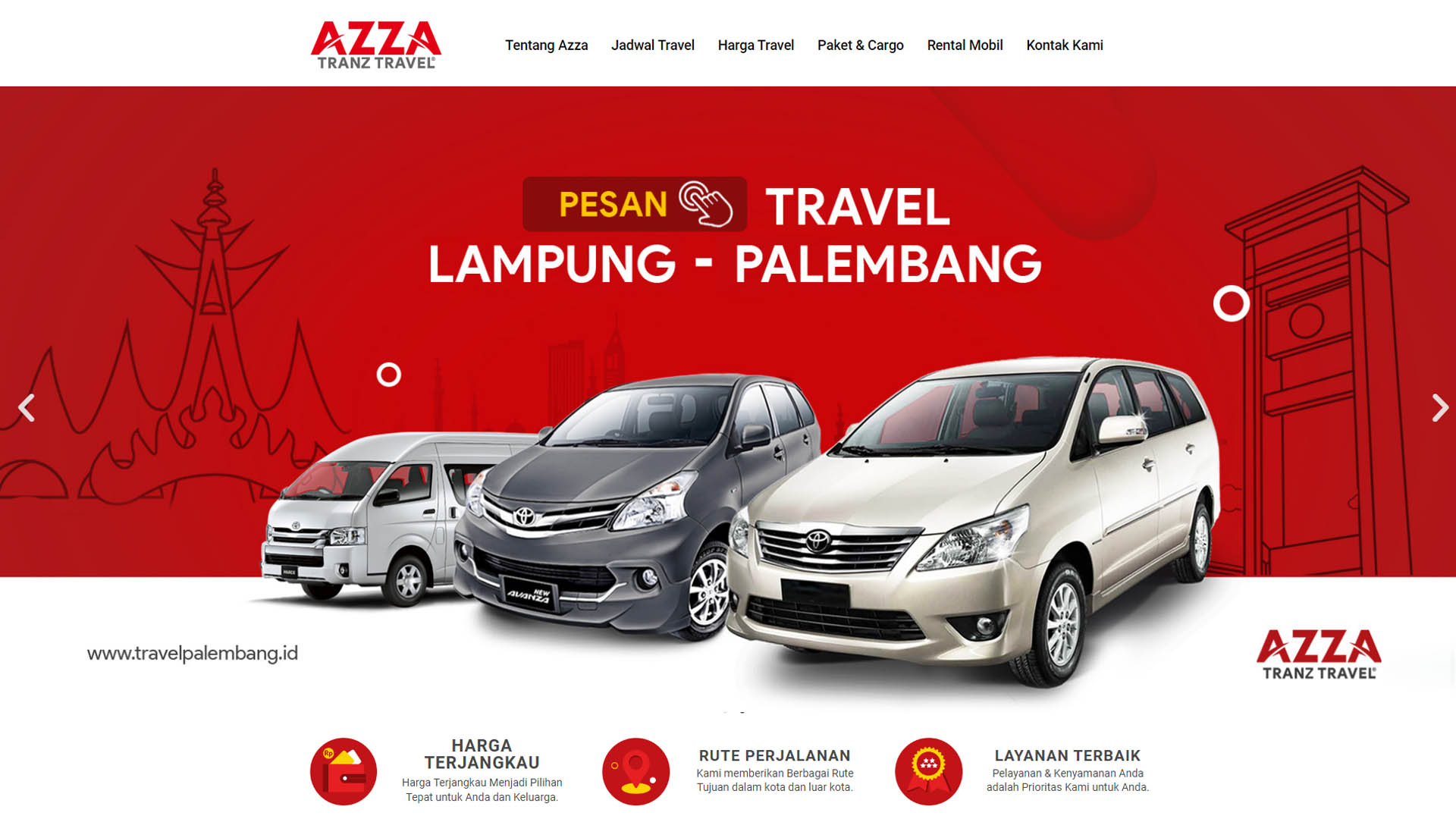 Jasa Pembuatan Website Travel Palembang - Azza Trans Travel